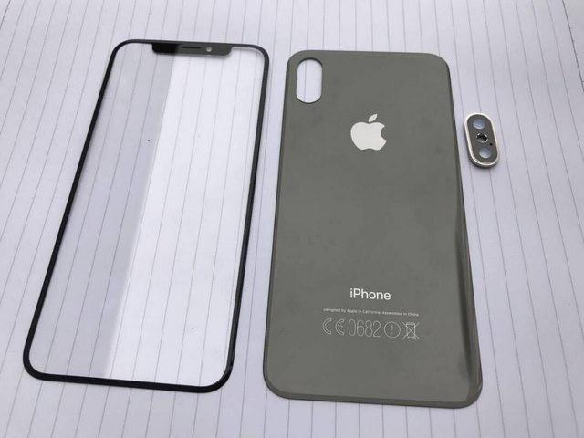 Foto filtrada de la supuesta parte posterior de cristal del iPhone 8